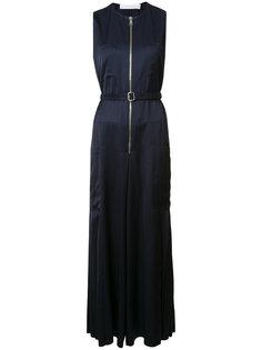 длинное платье с поясом Victoria Beckham