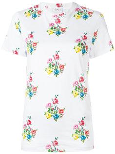 футболка с цветочным принтом   Au Jour Le Jour