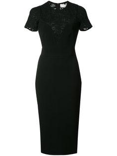 платье-футляр с кружевной панелью Victoria Beckham
