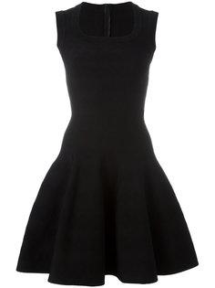 расклешенное платье с вырезом-ковш Alaïa