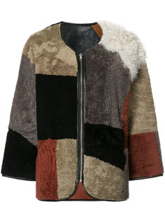 patchwork fur jacket  YMC