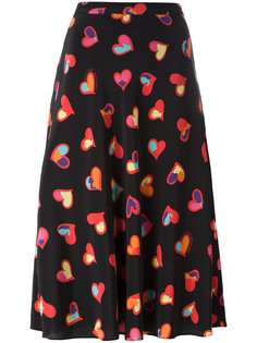 юбка А-образного силуэта с сердцами Boutique Moschino