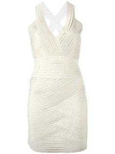 облегающее платье с V-образным вырезом Pierre Balmain