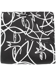 платок с абстрактным узором Haculla