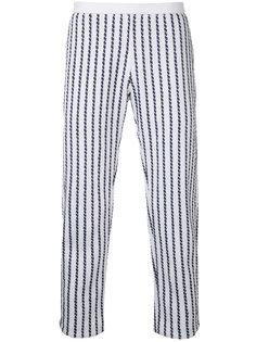 твидовые брюки в полоску Coohem