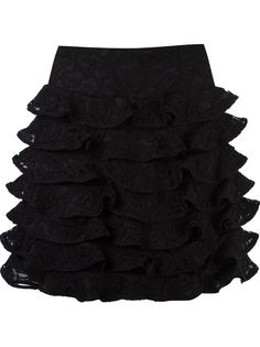 ruffled silk skirt Martha Medeiros