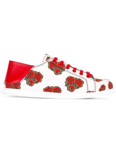 кроссовки с цветочным принтом   Alexander McQueen