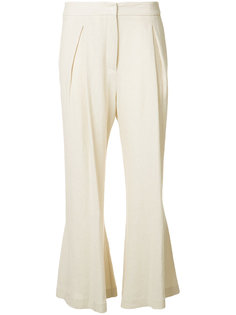 flared linen trousers  Dusan
