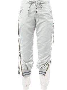укороченные двухслойные брюки Greg Lauren