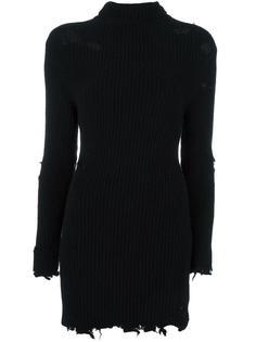 рваное платье-водолазка из ткани букле Season 3 Yeezy
