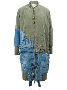 пальто с панельным дизайном  Greg Lauren