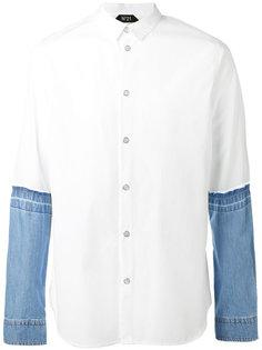 рубашка с джинсовыми рукавами Nº21