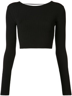 laced back cropped top Cushnie Et Ochs