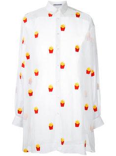 рубашка с принтом картошки-фри Mikio Sakabe