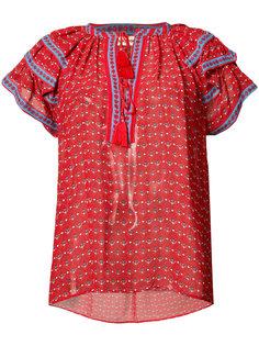 ruffle shoulder V-neck blouse  Ulla Johnson