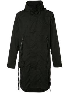 пальто с капюшоном и принтом на спине Haculla