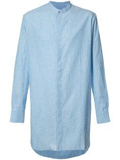 удлиненная рубашка в полоску Baja East