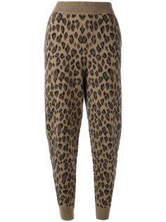леопардовые спортивные брюки Alexander Wang