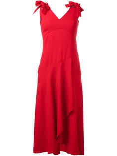 платье с оборкой Alberta Ferretti
