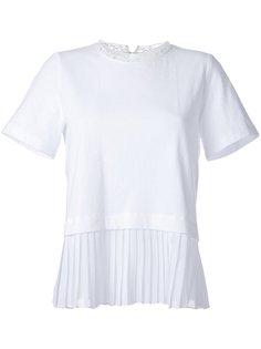 футболка с плиссированным подолом Muveil