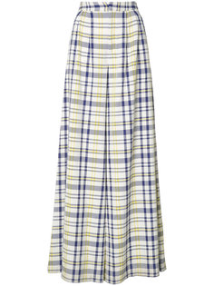 wide leg plaid trousers Adam Lippes