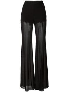 расклешенные прозрачные брюки Alberta Ferretti