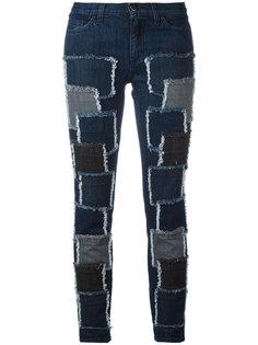 эластичные джинсы с нашивками Giamba