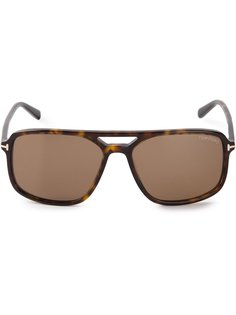 солнцезащитные очки с эффектом черепашьего панциря Tom Ford Eyewear