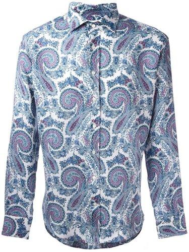рубашка с абстрактным принтом Etro