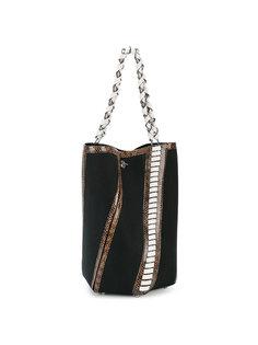 сумка-ведро с эффектом кожи питона Proenza Schouler