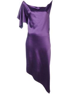 драпированное платье с одним рукавом Area