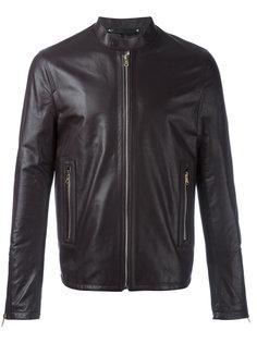 кожаная куртка на молнии Paul Smith