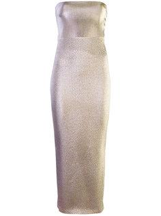 вечернее платье без бретелек Area