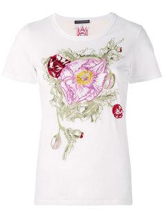 футболка с цветочной вышивкой  Alexander McQueen