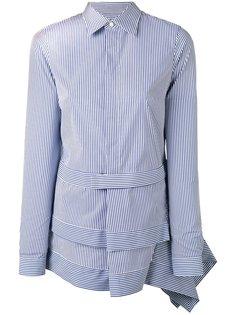 асимметричная рубашка в полоску Dsquared2