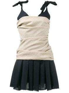 плиссированное платье без рукавов Jacquemus