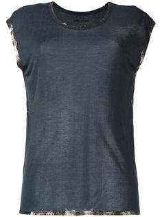 футболка с блестящей окантовкой Zadig & Voltaire
