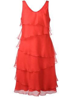 полупрозрачное платье-шифт Armani Collezioni