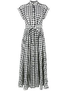 клетчатое платье длины миди Rossella Jardini