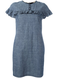 платье с отделкой оборками Burberry
