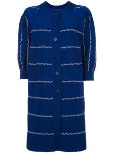 пальто с контрастной строчкой Rossella Jardini