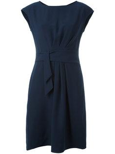 платье с драпировками спереди Armani Collezioni
