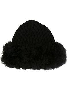 шапка с меховой отделкой Dolce & Gabbana