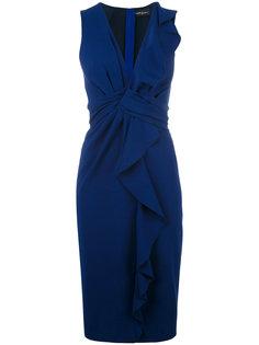 платье с V-образным вырезом и оборками Rossella Jardini