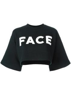 толстовка с логотипом и короткими рукавами Facetasm