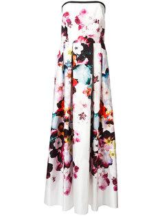 вечернее платье с цветочным принтом Elie Saab