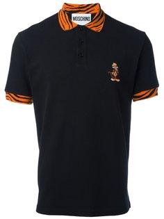 рубашка-поло с принтом тигра Moschino