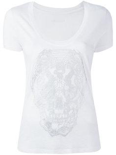 футболка с принтом черепа Zadig & Voltaire