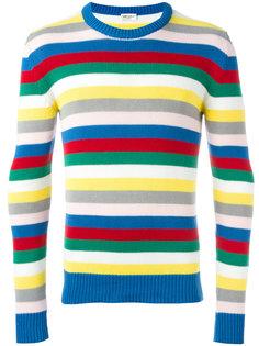 вязаный свитер в полоску  Saint Laurent