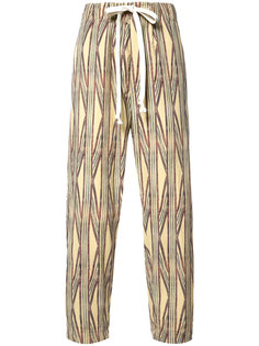 striped cropped trousers Uma Wang